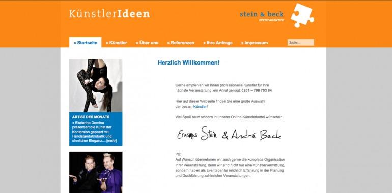 Künstlerideen der Eventagentur Stein & Beck